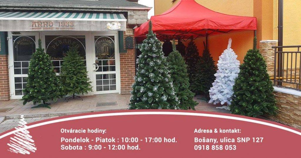 predaj vianočných stromčekov Bošany