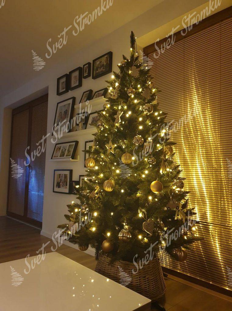 Ozdobený vánoční stromeček Smrk Norský 180cm
