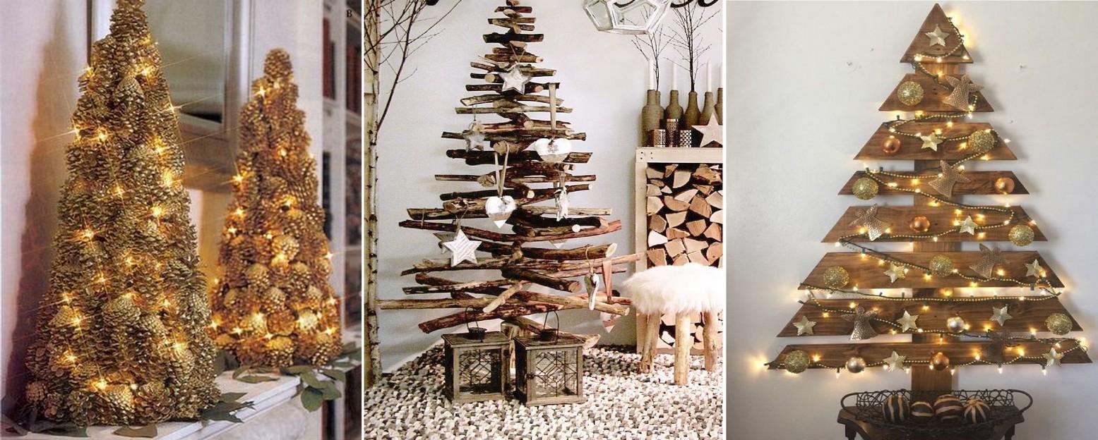 Dřevěné vánoční stromky