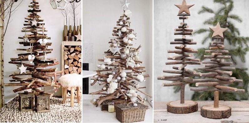 Vánoční stromeček z klacíků