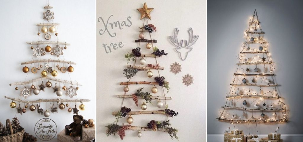 Vánoční stromek na stěnu