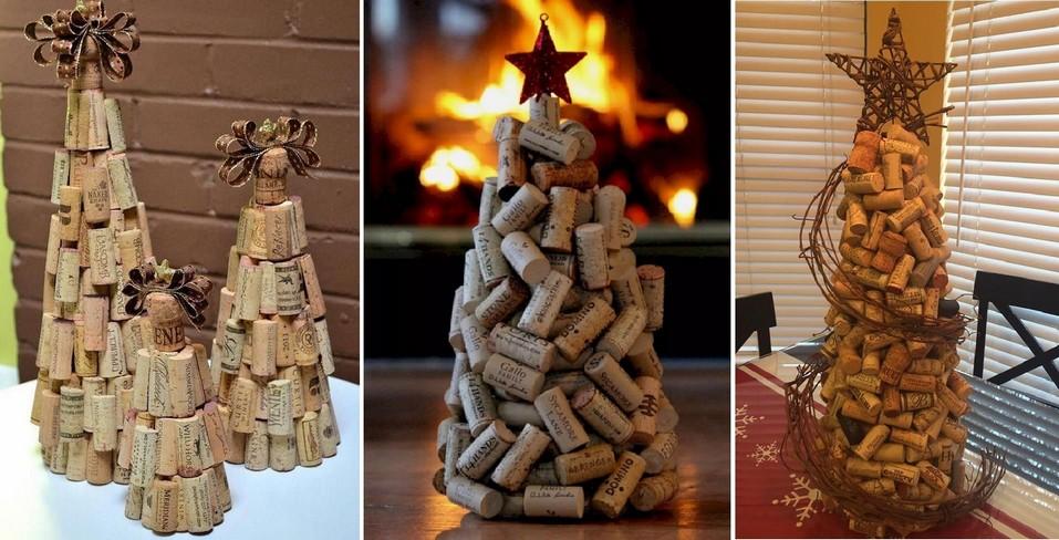 Vánoční stromek z vinných zátek