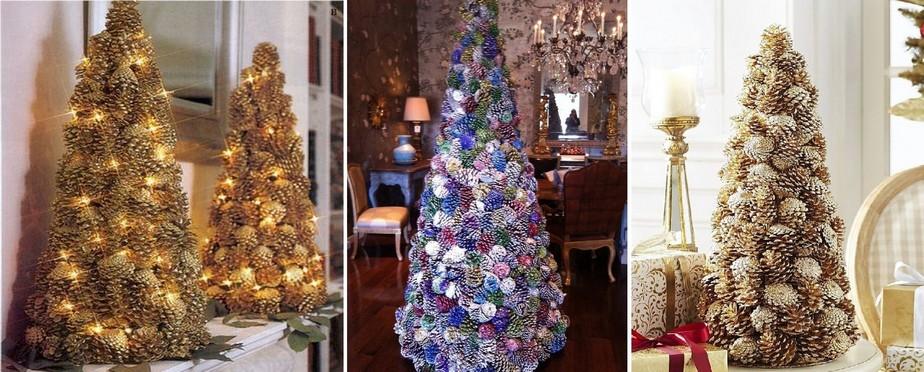 Vánoční stromek ze šišek