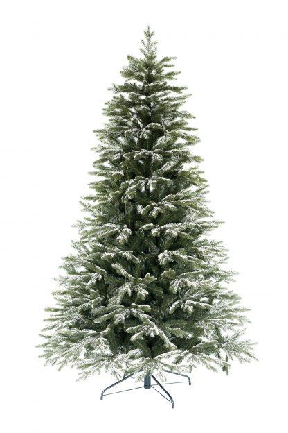 Klasický zelený 3D stromeček, který má koncové větvičky pokryté umělým sněhem. Sníh je velmi autentický a je k nerozeznání od toho pravého. Celý stromeček působí živým dojmem. Stromek je postaven na kovovém stojanu.