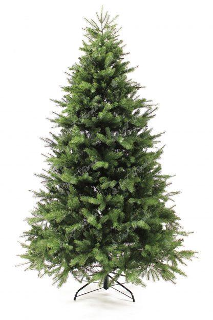 Krásný umělý vánoční stromek, který mě krásnou zelenou barvu doplněnou o světle zelené větvičky. Na stromečku je použotý velky počet 3D větviček s 3D jehličím a tak je k nerozeznání od živého. Stromek mě krásný a úhledným tvar. Stromek je postaven na kovovém stojanu.