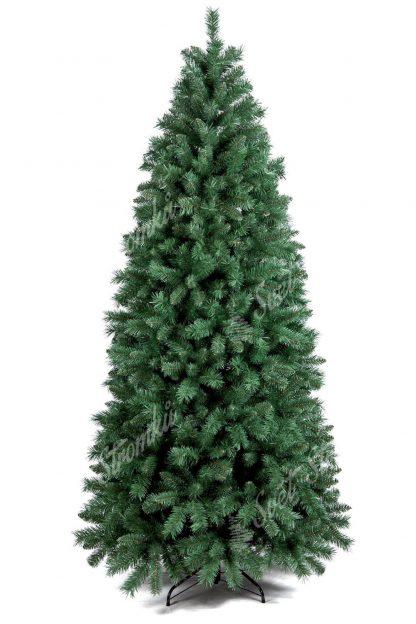 Stromek je úzkého jehlanový tvaru. Obsahuje velký počet větviček a tak působit velmi hustým dojmem. Větvičky velmi realisticky napodobují pravé borovicové jehličí. Stromek je postaven na kovovém stojanu.