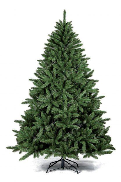 Stromek je zelené barvy a je pokryt velkým množstvím větviček. Stromek je postaven na kovovém stojanu.