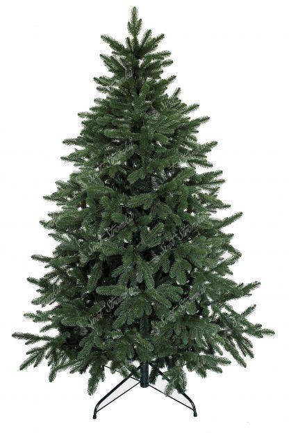 Umělý vánoční 3D stromek tmavozelené barvy. Dokonalé 3D větvičky lemují celý okraj stromku díky čemuž vypadá jako ten živý z lesa. Vánoční stromek je postaven na kovovém stojanu.