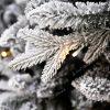 Bílá větvička 3D vánočního stromku s LED osvětlením.