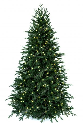 3D vánoční stromek s reálnými větvičkami díky čemuž působí opravdu živo. Vánoční stromek je ověšený LED osvětlením teplé bílé barvy.