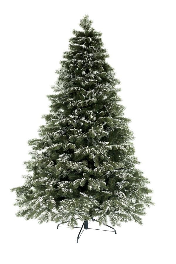 Zasněžený vánoční stromek 3D borovice