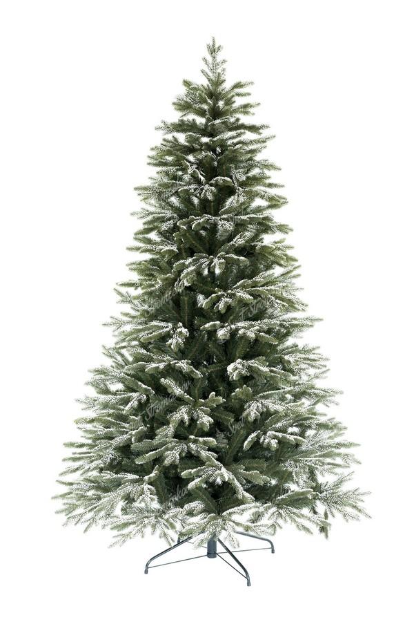 Jemně zasněžený 3D vánoční stromeček Smrk