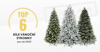 Bílé vánoční stromečky - Top6 pro rok 2020