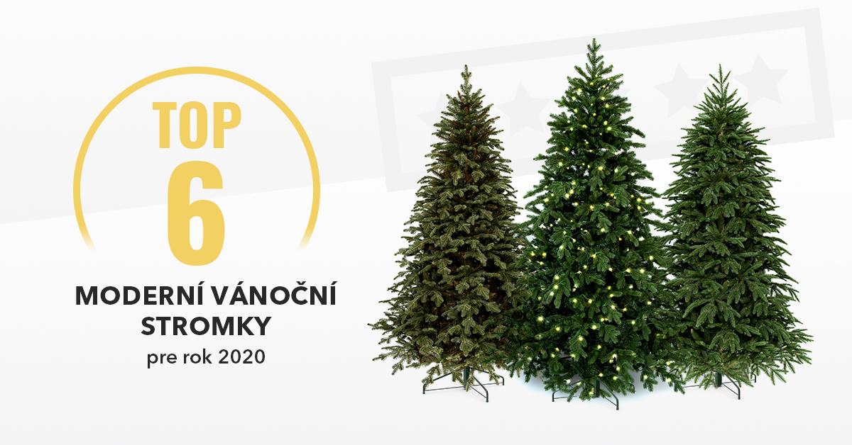 Moderní vánoční stromky - Top6 pro rok 2020
