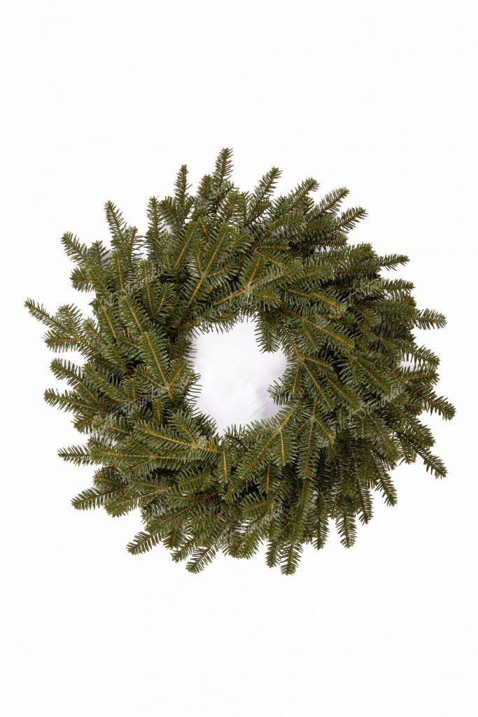 Moderní vánoční věnec 3D Jedle Smaragdová