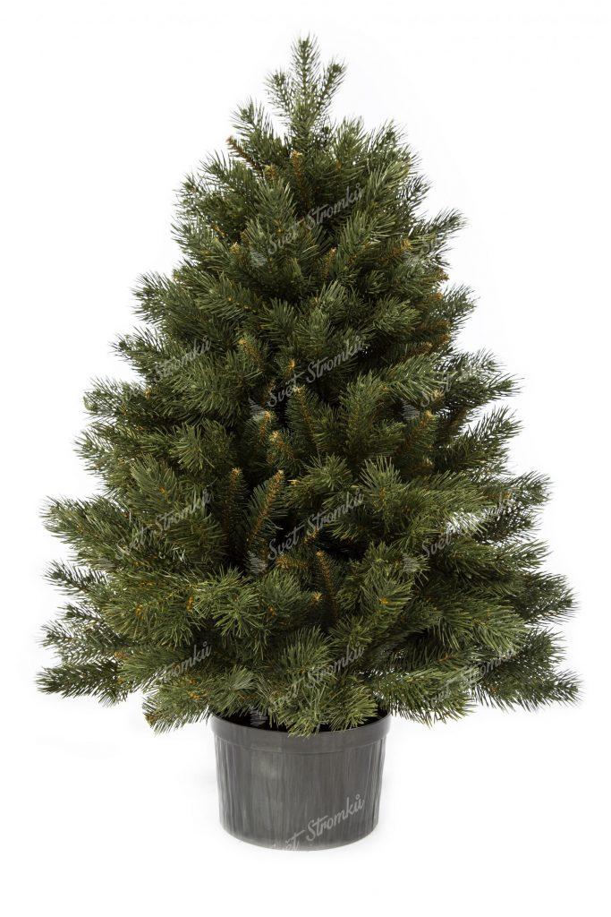 Vánoční stromek 3D Mini borovice v květináči