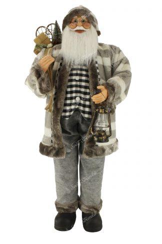 Dekorace Santa Claus Šedý 150cm