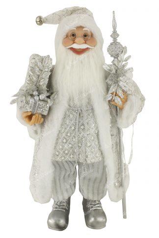 Dekorace Vánoční Mikuláš Ledový 60cm
