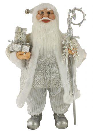 Dekorace Vánoční Mikuláš Ledový 80cm