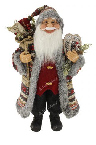 Dekorace Vánoční Mikuláš Vzorovaný 60cm