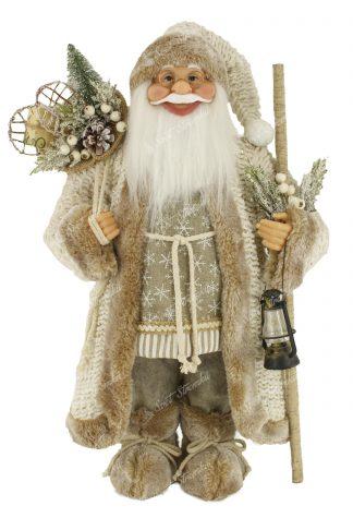 Dekorace Vánoční Mikuláš Zlatý 46cm